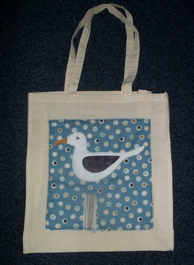 Patchwork, Seagull Canvas Bag
