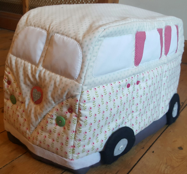 Vintage Campervan Sewing Machine Cover Pattern: Physical copy
