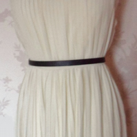 'Ella' size small cream sheer pleated dress uk 8-10