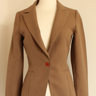 'Cambridge' size small brown blazer jacket uk 6-8