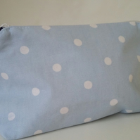 Handmade Polka Dot Makeup Bag