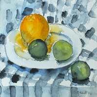 Fruit on plate fine art  print card. SALE SALE SALE