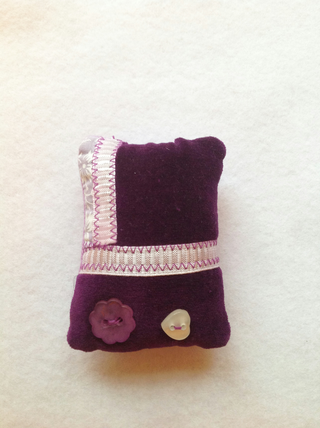 Pin Cushion Purple velet gift for Mum