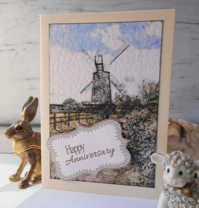 Anniversary Card Windmill