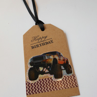 Gift Tag Monster Truck