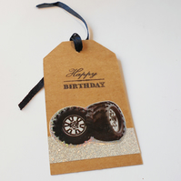 Gift Tag Monster Wheels