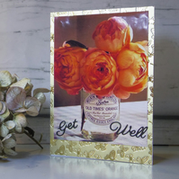 Jam Jar with Flowers get Well card