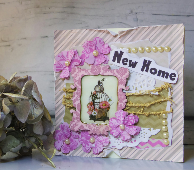 Shabby Chic New Home Card