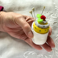 Pin cushion cup cake style