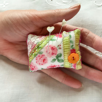 Pretty pink pin cushion