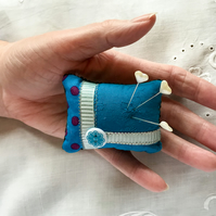 Pin Cushion Blue
