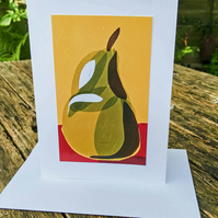 A large pear card