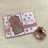 Miss you Shabby Chic card