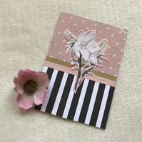 Chocolate box blank card.