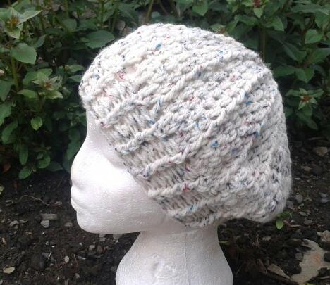 Rustic Cream  Flecks Beret Style Slouch Hat