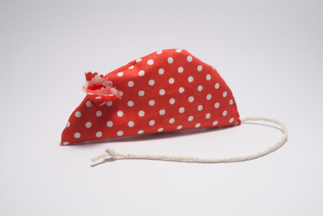 Catnip Cat Toy - Spotty Red