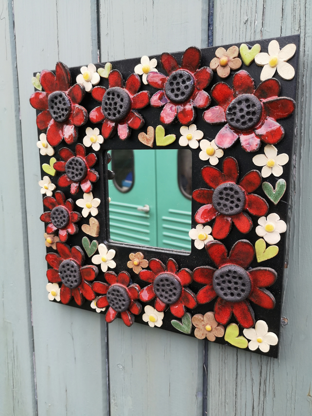 Flowery Mirror with Poppies