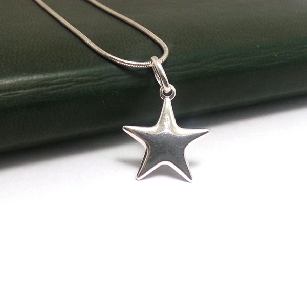 Sterling Silver Star Pendant Necklace Solid Silver Star Necklace Dainty Necklace