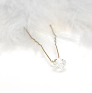 5 Crystal Hair Pin Clear Crystal Bobby Pin Wedding