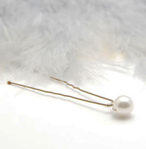 5 Pearl Hair Pin Bobby Pin Cream or White Pearl