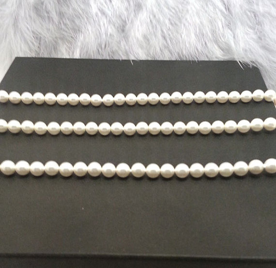 Bridesmaids Gift Set of 3 Classic Pearl Necklace