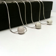 Set of 3 Sterling Silver Stardust Necklace