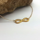 Gold Infinity Necklace 14k Gold Filled Necklace Chain Infinity Symbol