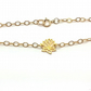 Tiny Gold Lotus Flower Bracelet Yoga Jewellery