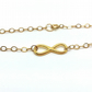 Dainty Gold Infinity Bracelet Love You Forever Gift Friends Forever