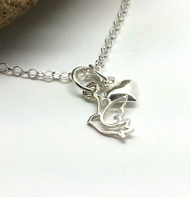 Sterling Silver Dove Bracelet Bridesmaid Gift Confirmation Gift