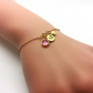 Personalised Gold Initial Birthstone Bracelet Gift for Daughter or Girlfriend