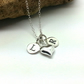 Silver 2 Initials Heart Necklace Valentine Gift Romantic Necklace