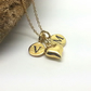 Personalised Gold 2 Initial Heart Necklace You and Me Necklace