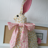 Easter Fabric bunny with pompom tail