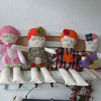 SALE !   Rag doll with various outfits