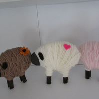 Sheep ornament different colours bespoke