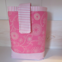 Diaper pouch lined
