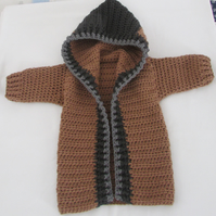 Childs crochet hooded jacket.  Fits age 12-24 months.Free postage