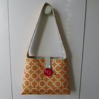 Lady or girls handbag fully lined with beautiful red button. Shouder bag