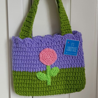 Girls crochet bag with flower detail