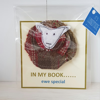 Cute sheep design brooch. Free postage