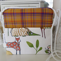 Girls crossbody bag, woodland animal print. Free postage to UK Mainland