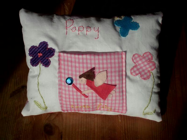 Tooth Fairy Pocket Cushion Pillow Personalised