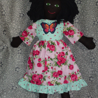 Hand made rag doll Lizzie