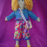 Hand made rag doll Olivia