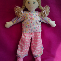 Hand made rag doll Esme
