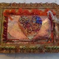 TRUST IN YOUR HEART ;inspirational mixed media canvas.