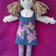 Hand made rag doll Autumn