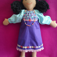 Hand made rag doll Skye