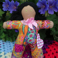 Hand made Pipsqueak Patchie rag doll Babs